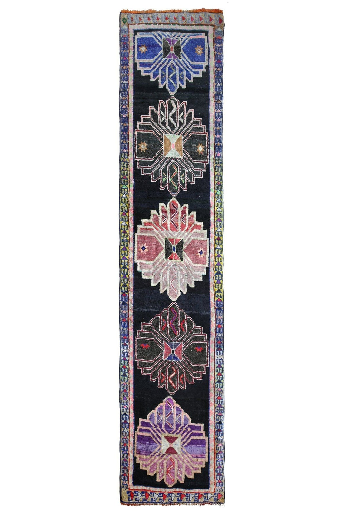 'Summer Festival' Tribal Runner Rug - Canary Lane - Curated Textiles