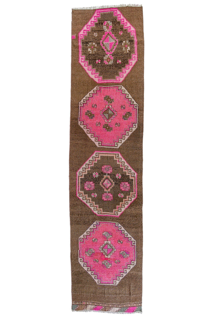 'Autumn' Vintage Runner - 3' x 11'2'' - Canary Lane - Curated Textiles