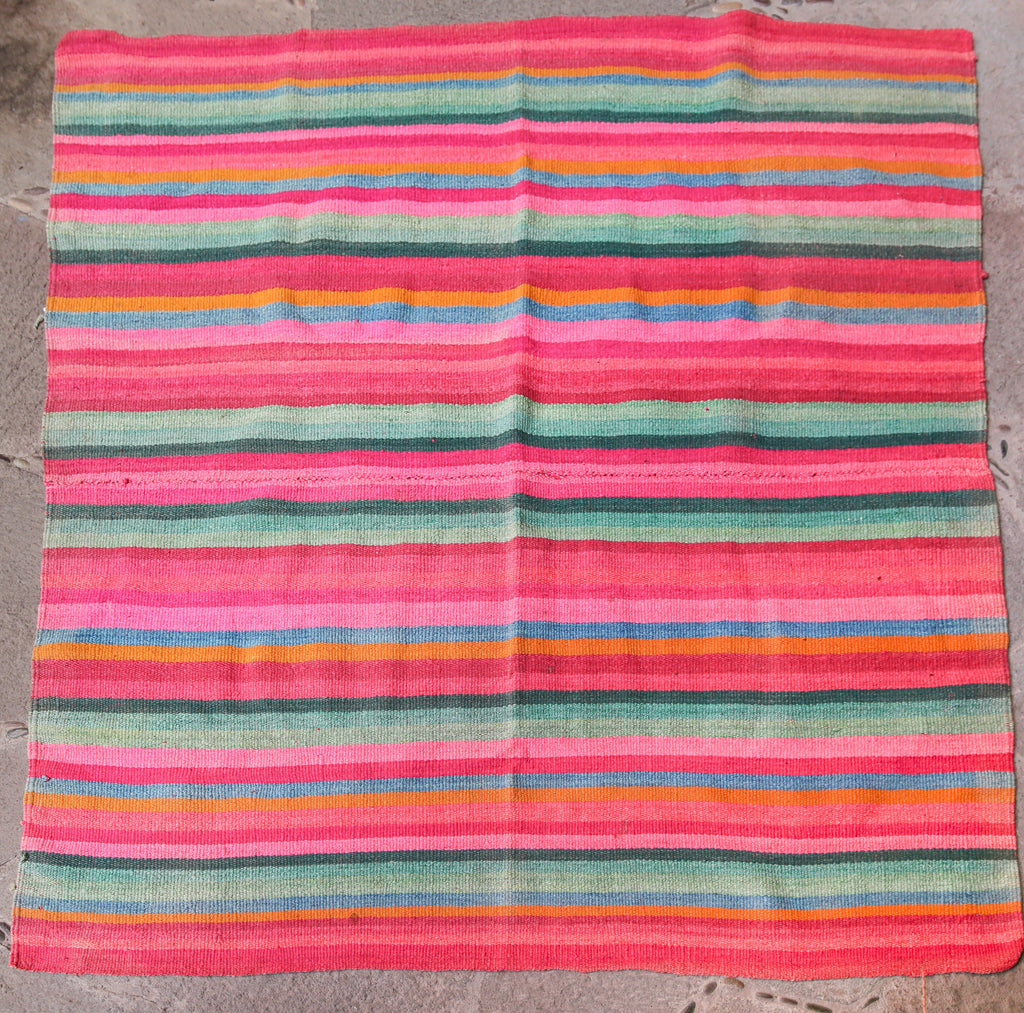 Handwoven Peruvian Frazada No. 007 - Canary Lane - Curated Textiles