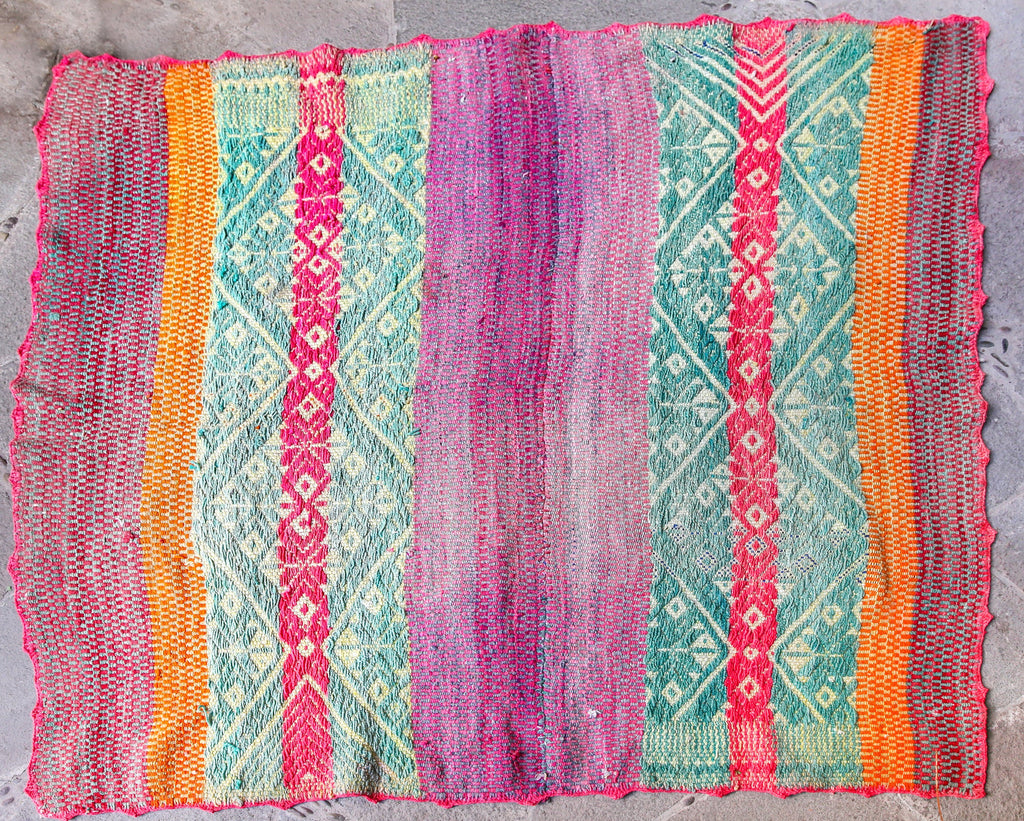 Handwoven Peruvian Frazada No. 008 - Canary Lane - Curated Textiles