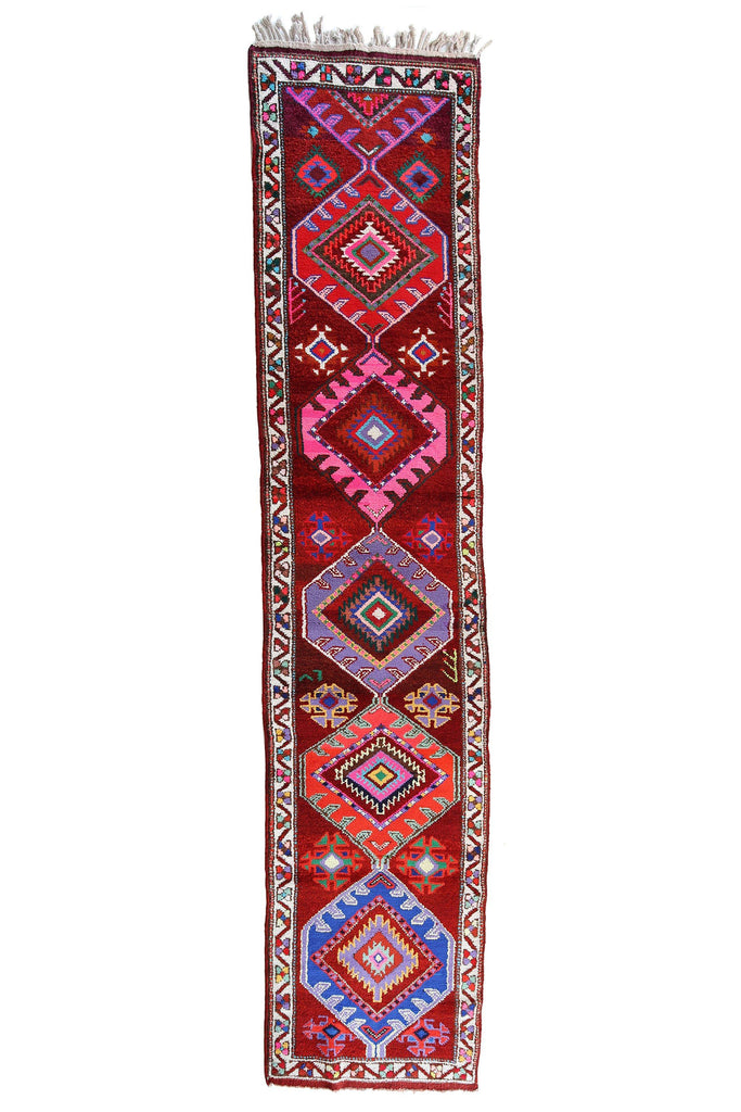 'Kaleidoscope' Tribal Runner Rug - Canary Lane - Curated Textiles