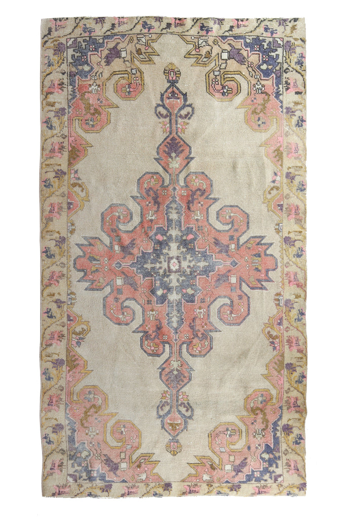 'Whimsy' Faded Oushak Rug - Canary Lane - Curated Textiles
