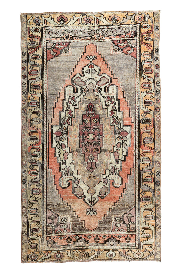 'Misty' Turkish Oushak Rug - Canary Lane - Curated Textiles