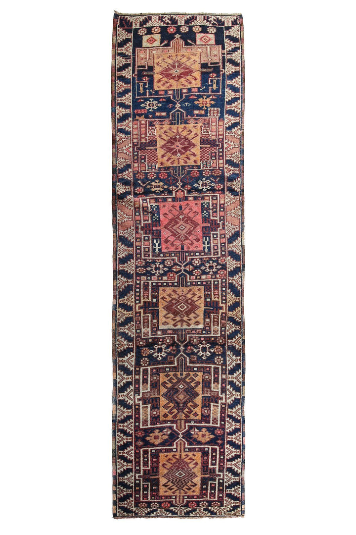 'Melody' Vintage Turkish Runner - 3'3'' x 11'4'' - Canary Lane - Curated Textiles