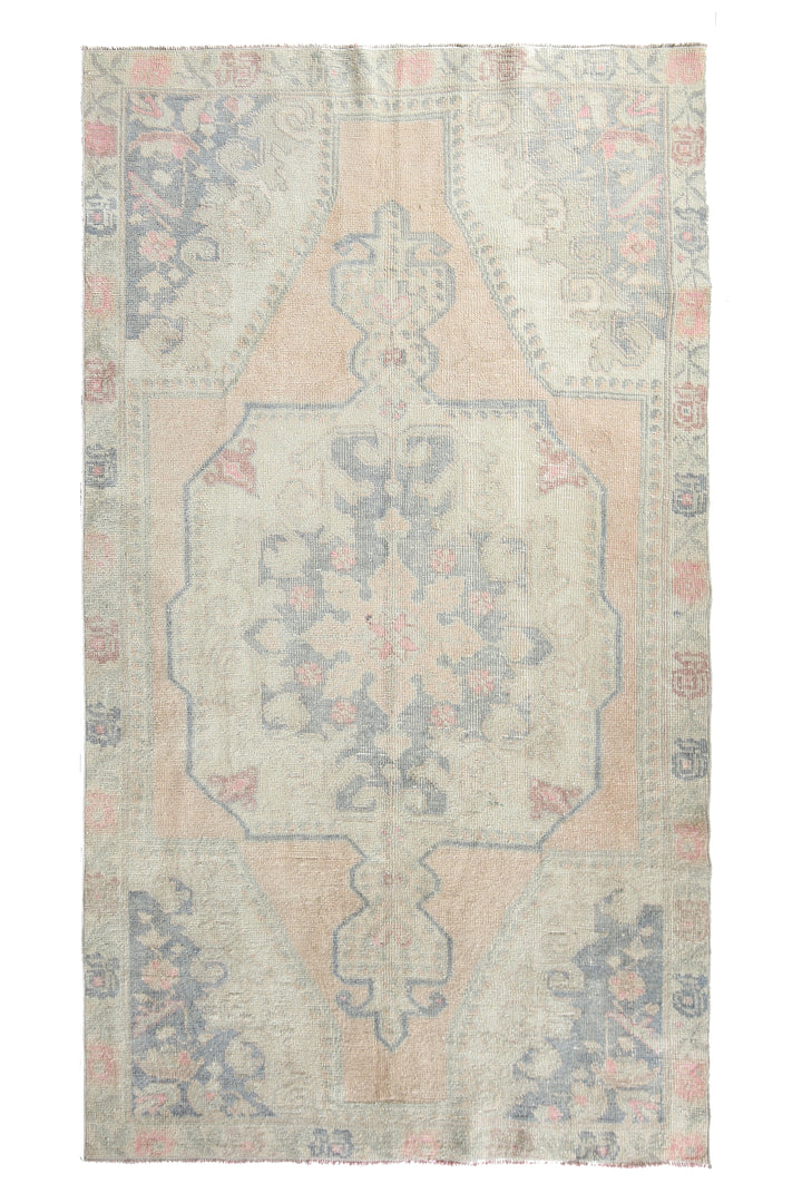 'AR-0418-389' Faded Oushak Rug - Canary Lane - Curated Textiles