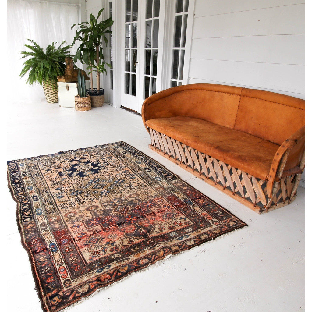 'Rosie' Turkish Area Vintage Rug - 4'6'' x 6'2'' - Canary Lane - Curated Textiles