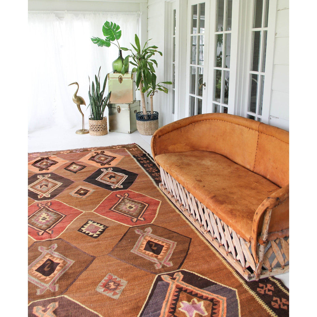 'Demir' Oversized Kilim - Canary Lane - Curated Textiles