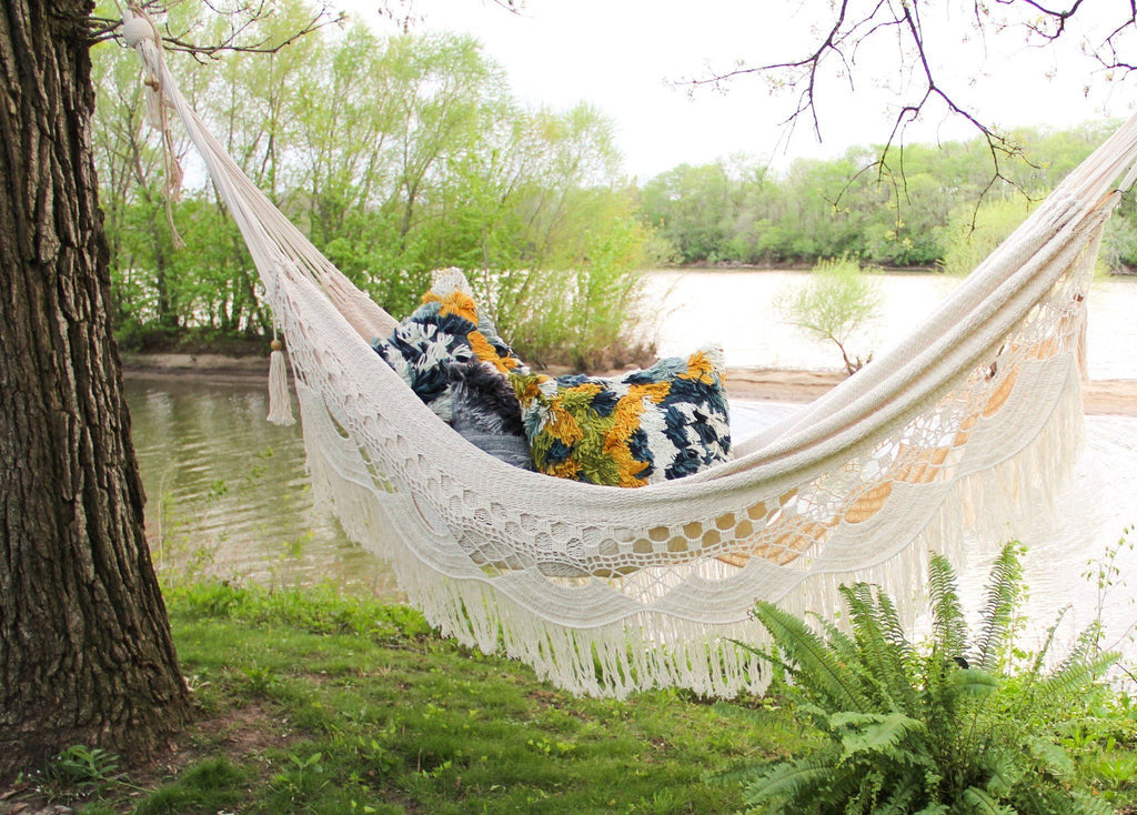 Handwoven Two Person Hammock - Canary Lane - Curated Textiles
