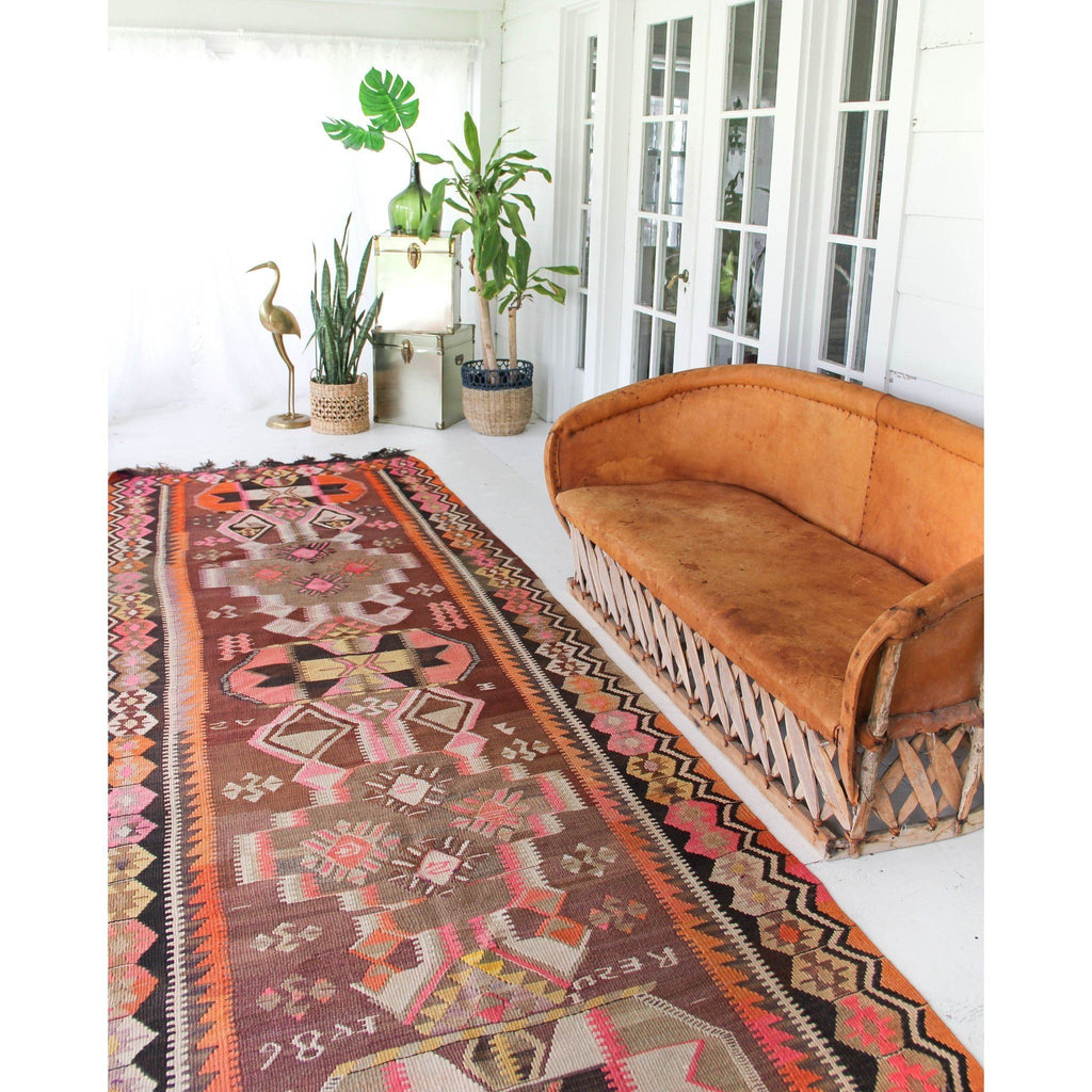 Bertha Oversized Rare Kilim Runner - Canary Lane - Curated Textiles