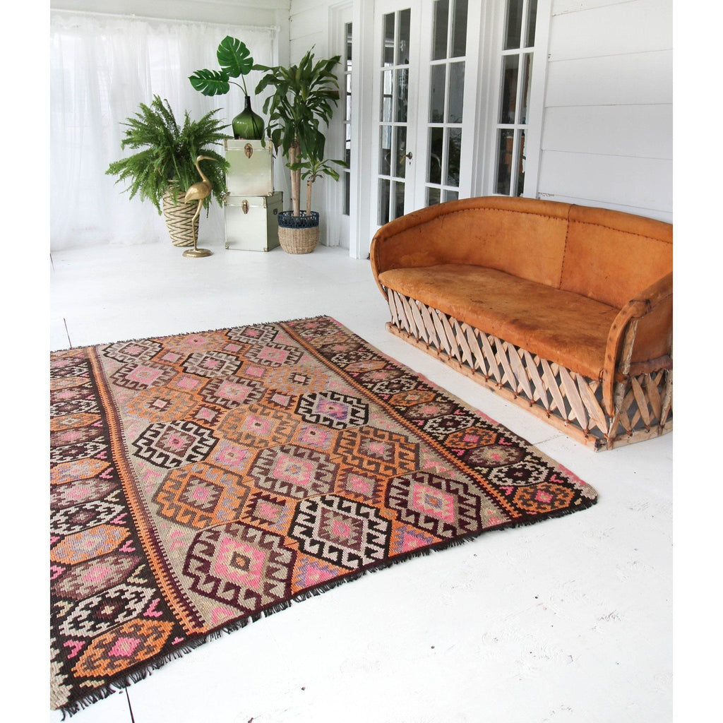 'Colleen' Kilim Area Rug - Canary Lane - Curated Textiles