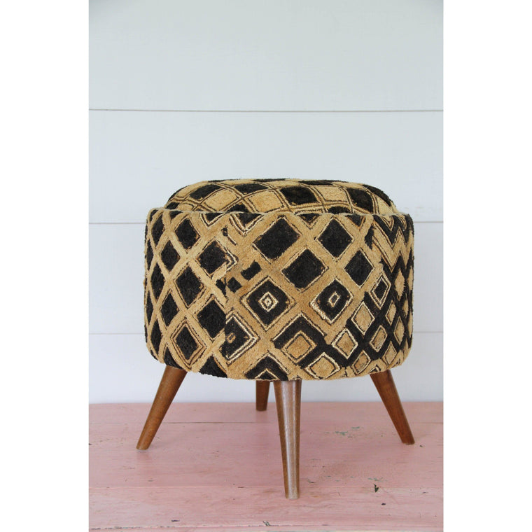 Kuba Cloth Foot Stool