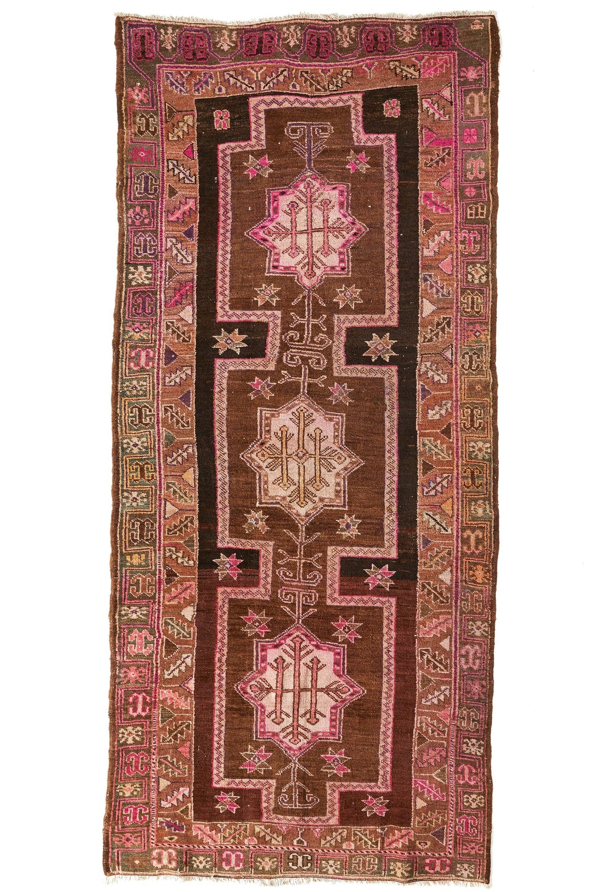 'Aurora' Turkish Vintage Extra Large Area Rug - 5'4'' x 11'11'' - Canary Lane - Curated Textiles
