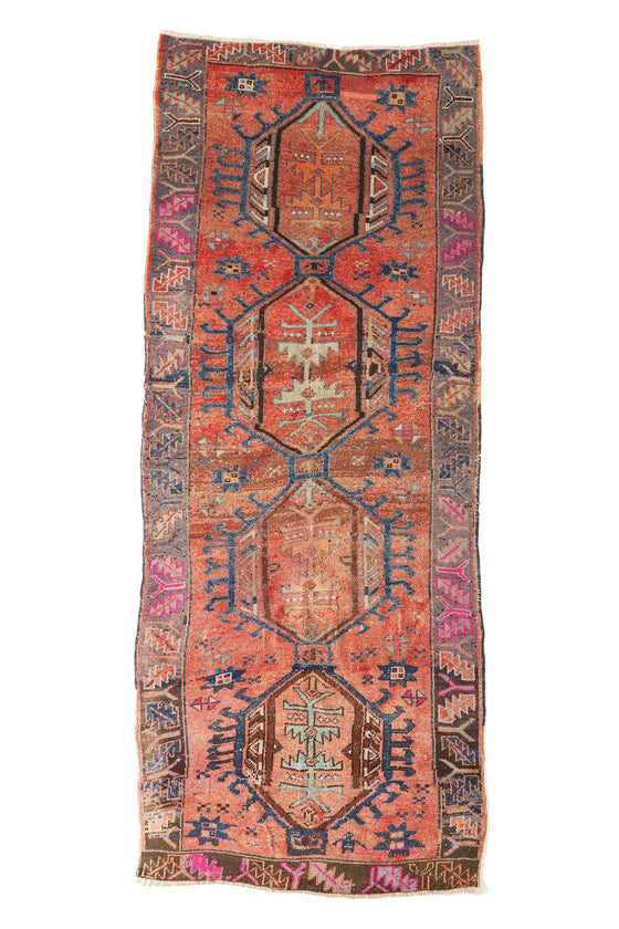 'Free Spirit' Primitive Kurdish Tribal Rug - 4'8'' x 11'6'' - Canary Lane - Curated Textiles