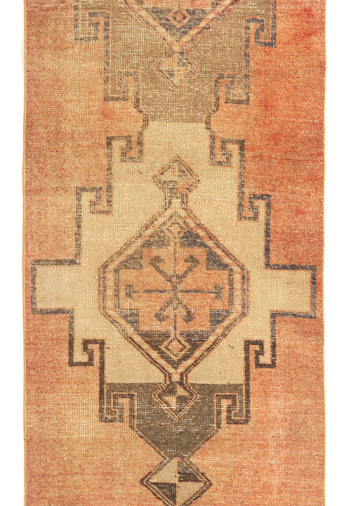 'Mojave' Vintage Distressed Turkish Runner Rug - 3'x11'6'' - Canary Lane - Curated Textiles