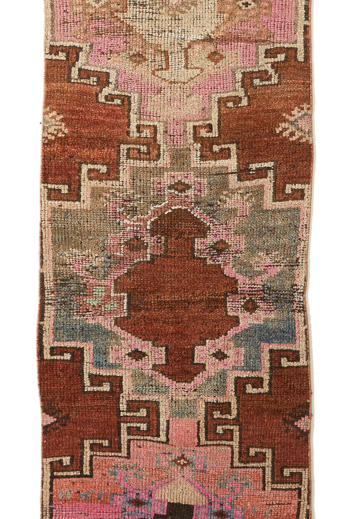 'Blush' Distressed Narrow Turkish Vintage Runner - 2'3.5'' x 11'3'' - Canary Lane - Curated Textiles