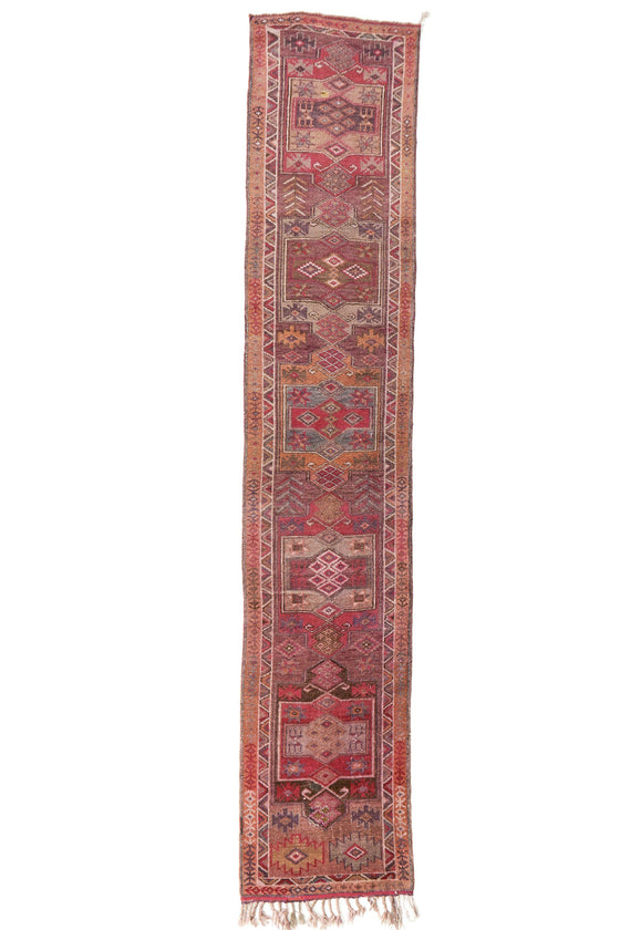 'Rhapsody' Vintage Turkish Runner - Extra Long - 2'10'' x 15'1'' - Canary Lane - Curated Textiles