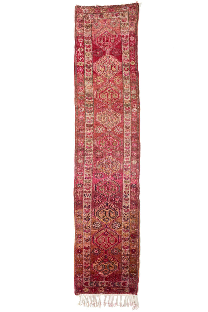 'Sanguine' Vintage Turkish Rug - 2'8'' x 12'3'' - Canary Lane - Curated Textiles