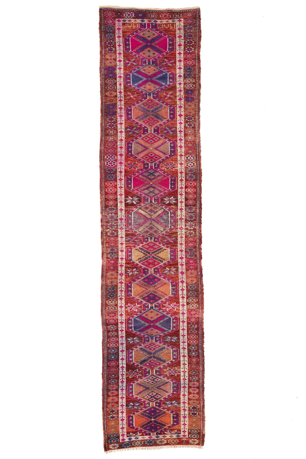 'Wildflower' Turkish Vintage Runner - 2'7'' x 11'3'' - Canary Lane - Curated Textiles