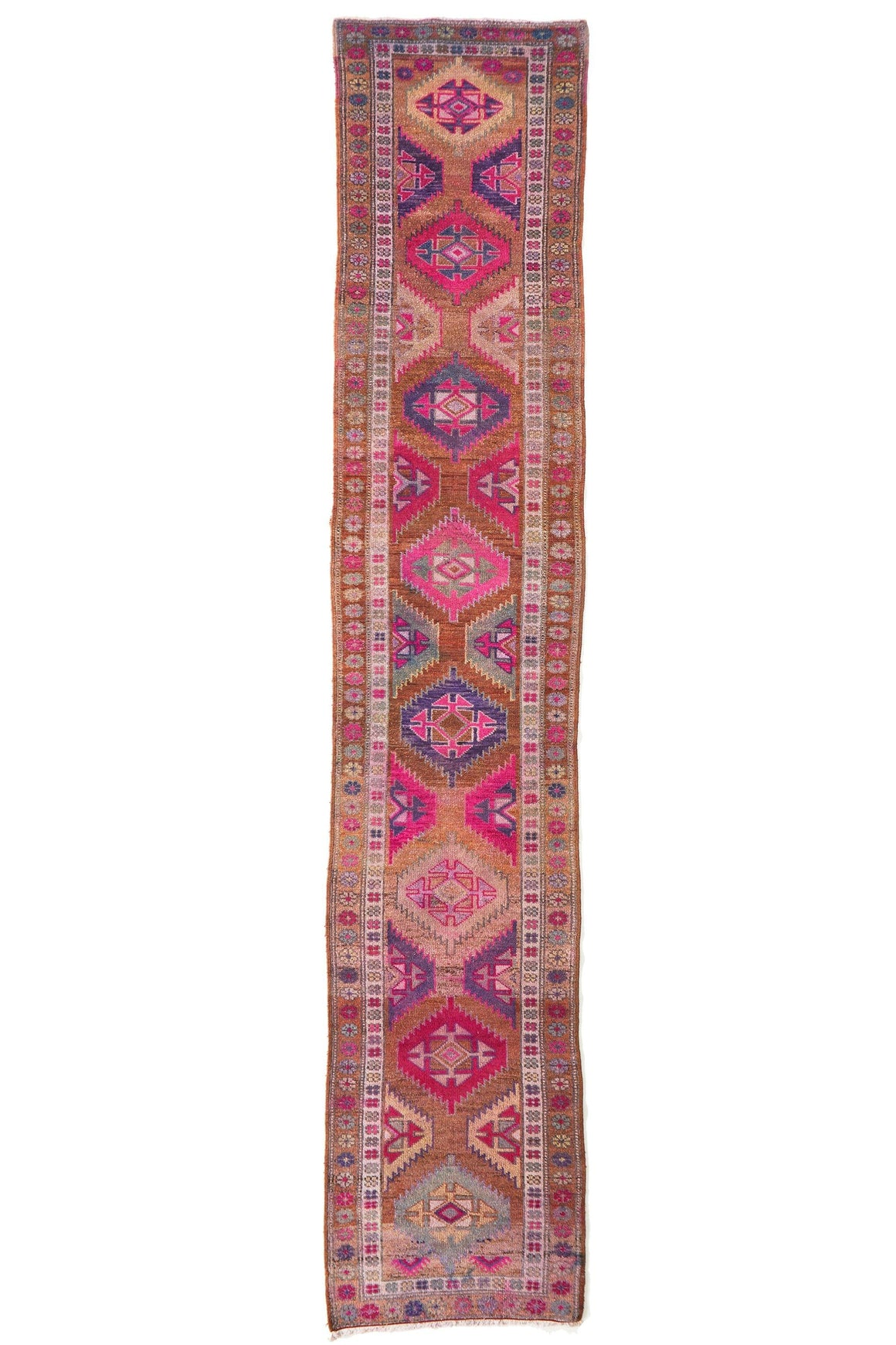 'Wonderland' Vintage Turkish Rug - 2'10'' x 15'1' - Canary Lane - Curated Textiles