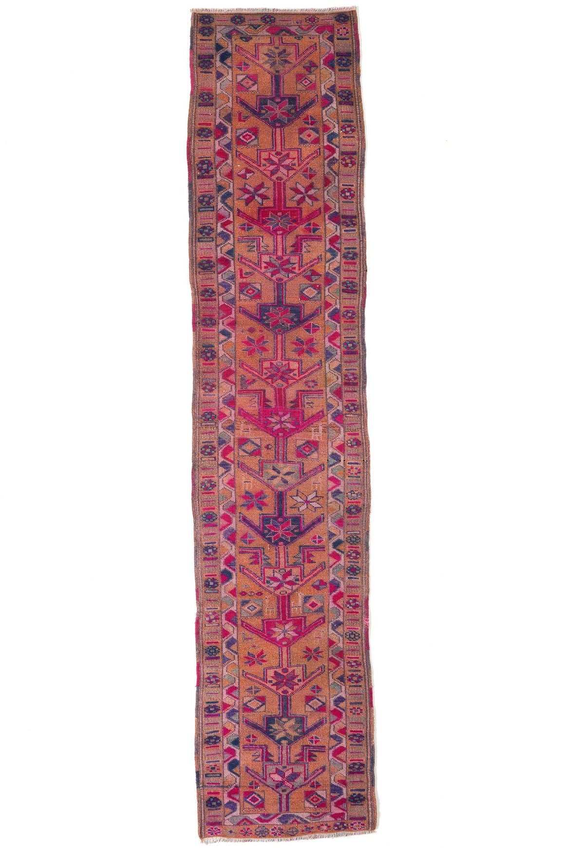 'Rosé' Vintage Turkish Runner - 2'8'' x 12'8'' - Canary Lane - Curated Textiles