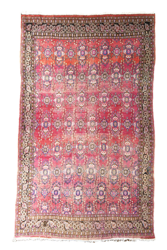 "'Emine' Palace Sized Vintage Area Rug - 9' x 15'3"" - Canary Lane - Curated Textiles"