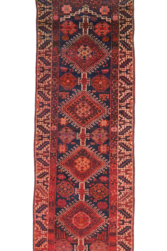 "'Elvira' Rare Long Turkish Runner Rug - 3'1.5"" x 15'8"" - Canary Lane - Curated Textiles"