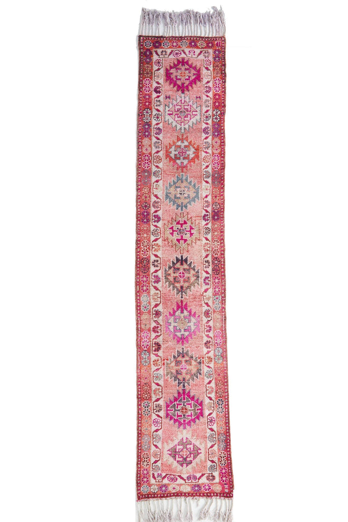 "'Clicquot' Vintage Turkish Runner - 2'10"" x 14'10"" - Canary Lane - Curated Textiles"