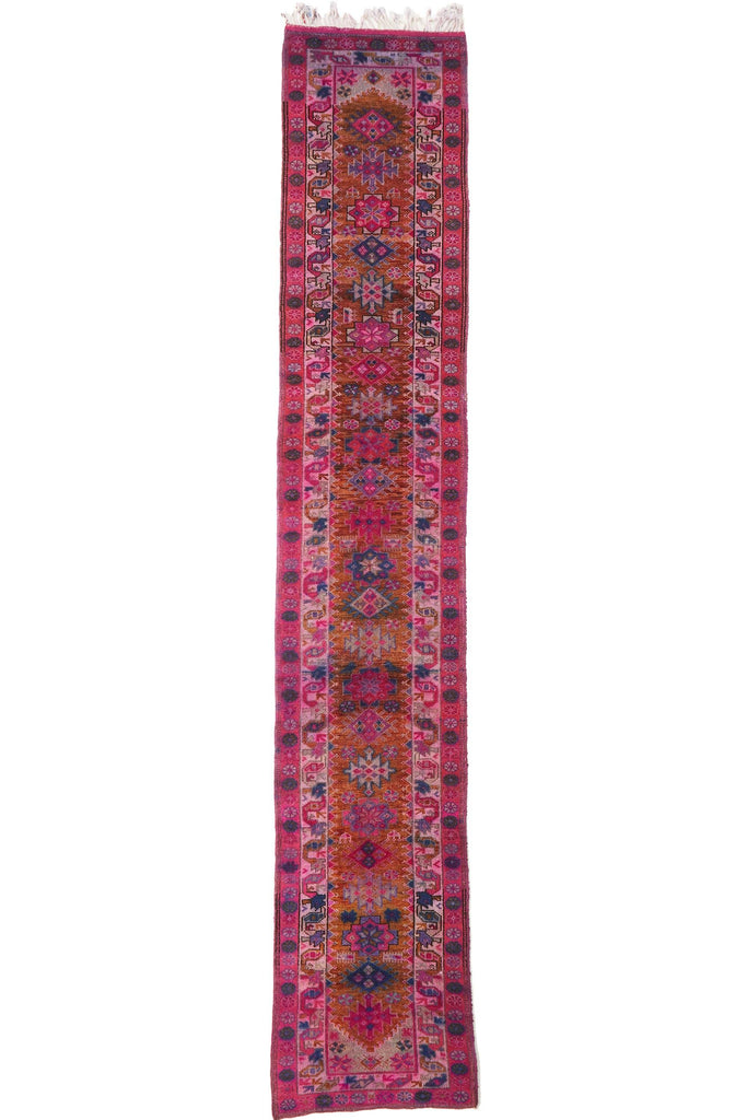 'Venus' Extra Long Turkish Vintage Runner - 2'10'' x 15'9'' - Canary Lane - Curated Textiles