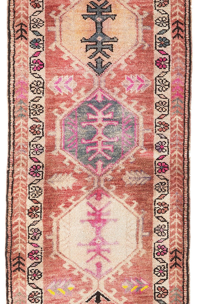 'Primrose' Turkish Runner- 2'8'' x 14' - Canary Lane - Curated Textiles