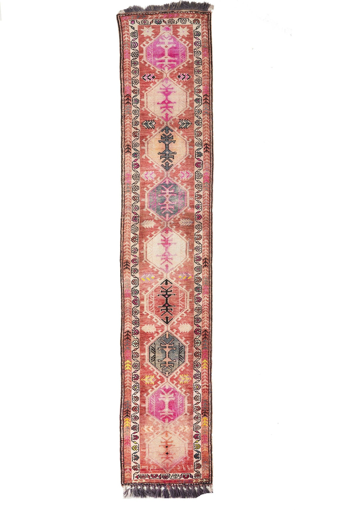 'RR-0818-539' Tribal Runner Rug - Canary Lane - Curated Textiles