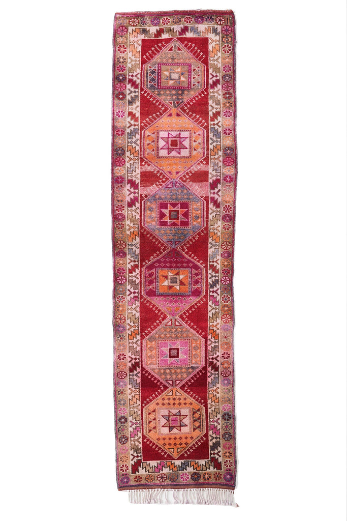 'Star Dazed' Turkish Runner Rug - 2'11'' x 11'3'' - Canary Lane - Curated Textiles