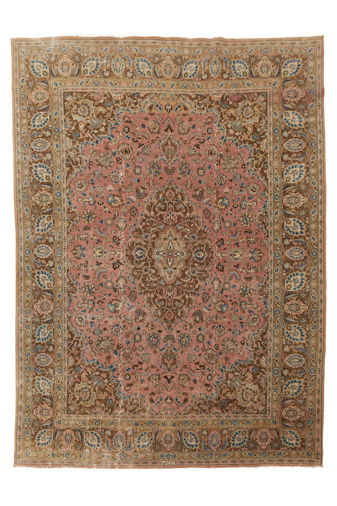 "'Viola' Palace-Sized Antique Persian Rug - 9'8"" x 13'5"" - Canary Lane - Curated Textiles"