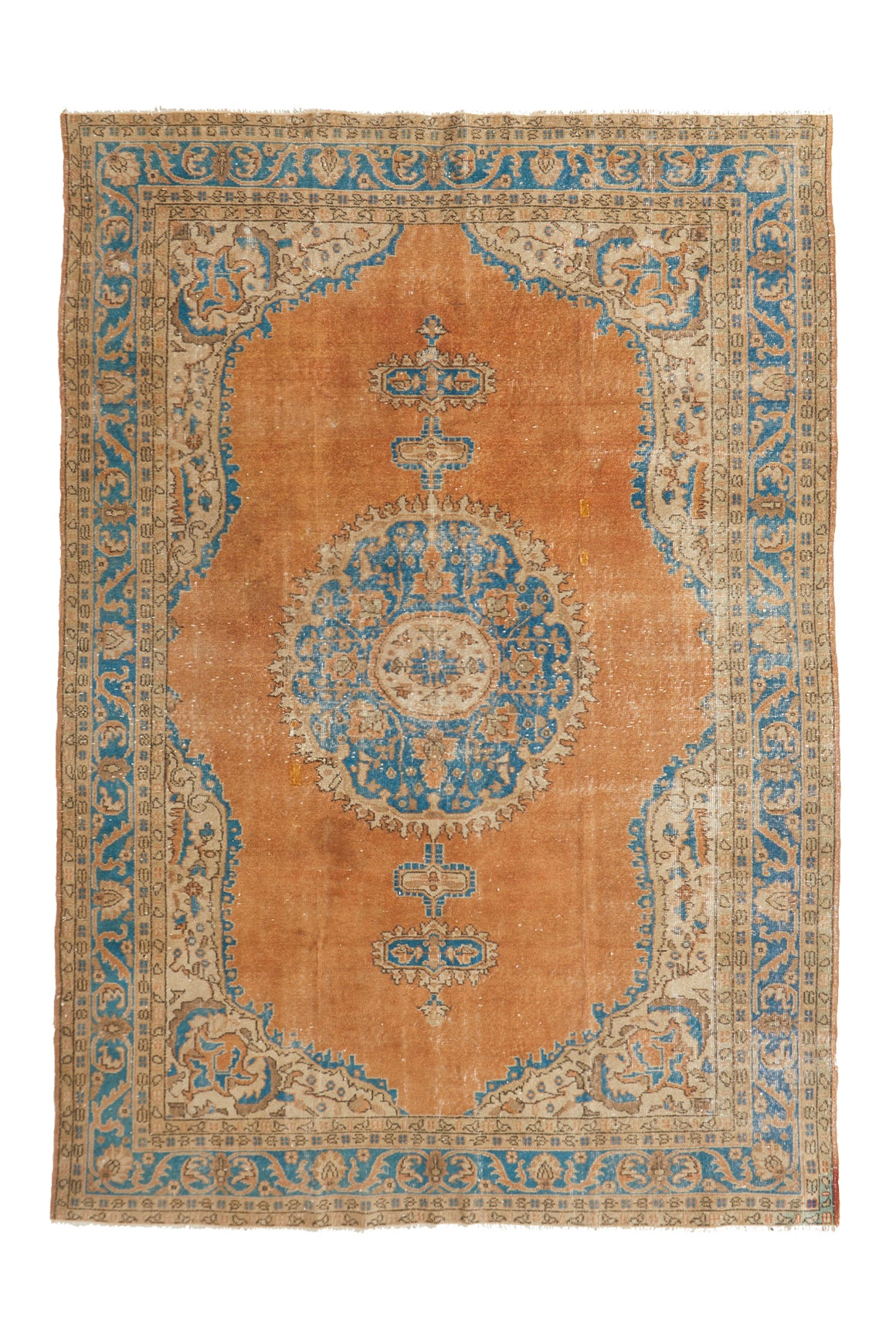 'Ada' Vintage Oushak Area Rug - 7' x 10'2'' - Canary Lane - Curated Textiles