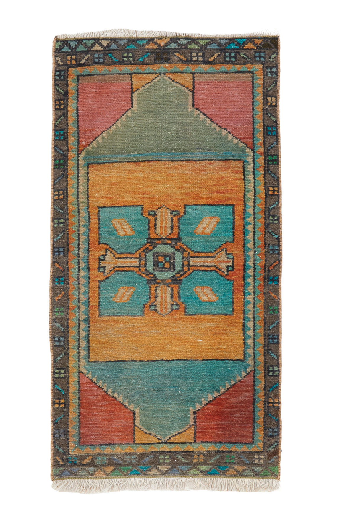 "No. 1024 Mini Rug - 1'6"" x 3'5"" - Canary Lane - Curated Textiles"