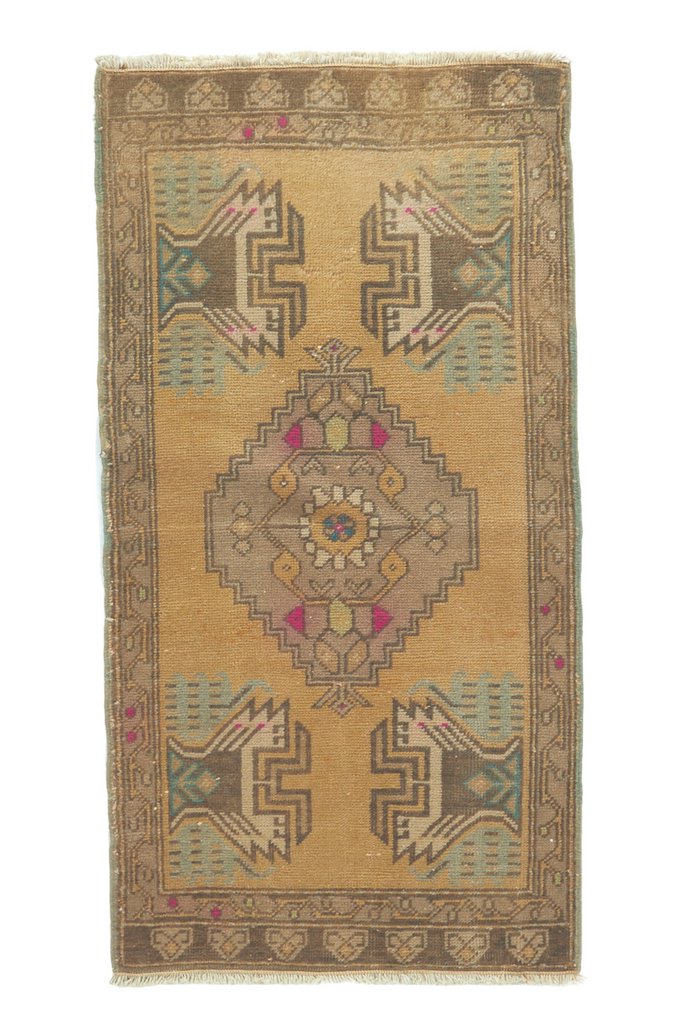 "No. 778 Mini Rug - 1'9"" x 3'5"" - Canary Lane - Curated Textiles"