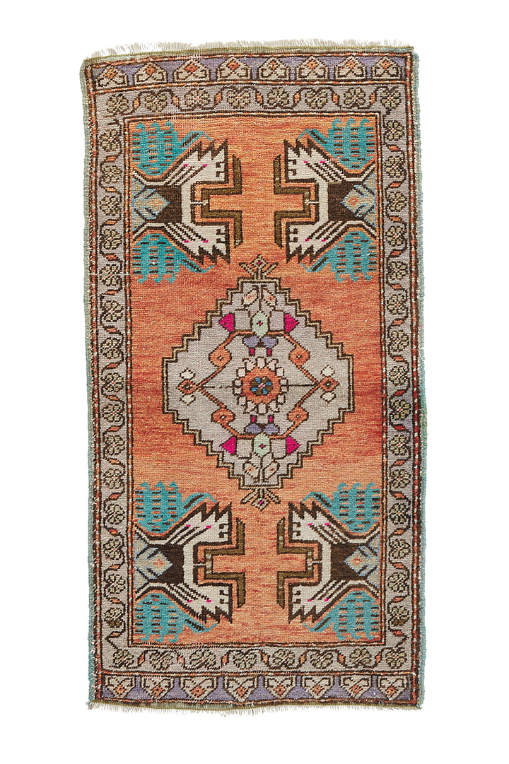 "No. 861 Mini Rug - 1'9"" x 3'6"" - Canary Lane - Curated Textiles"