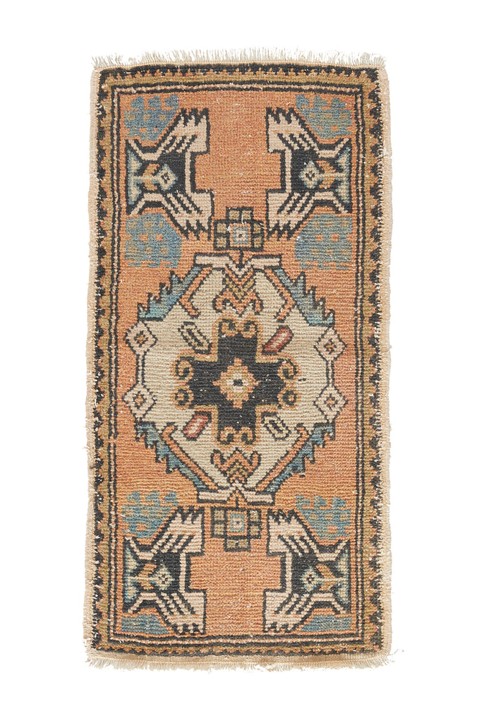 "No. 890 Mini Rug - 1'7"" x 3'2"" - Canary Lane - Curated Textiles"