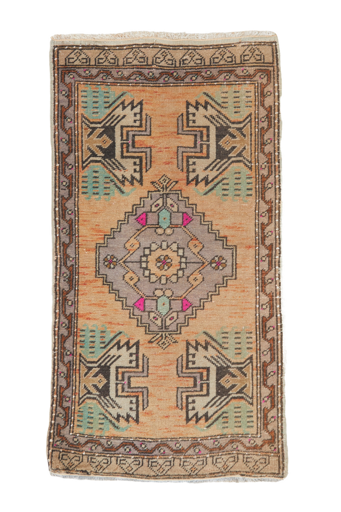 "No. 921 Mini Rug - 1'11"" x 3'8"" - Canary Lane - Curated Textiles"