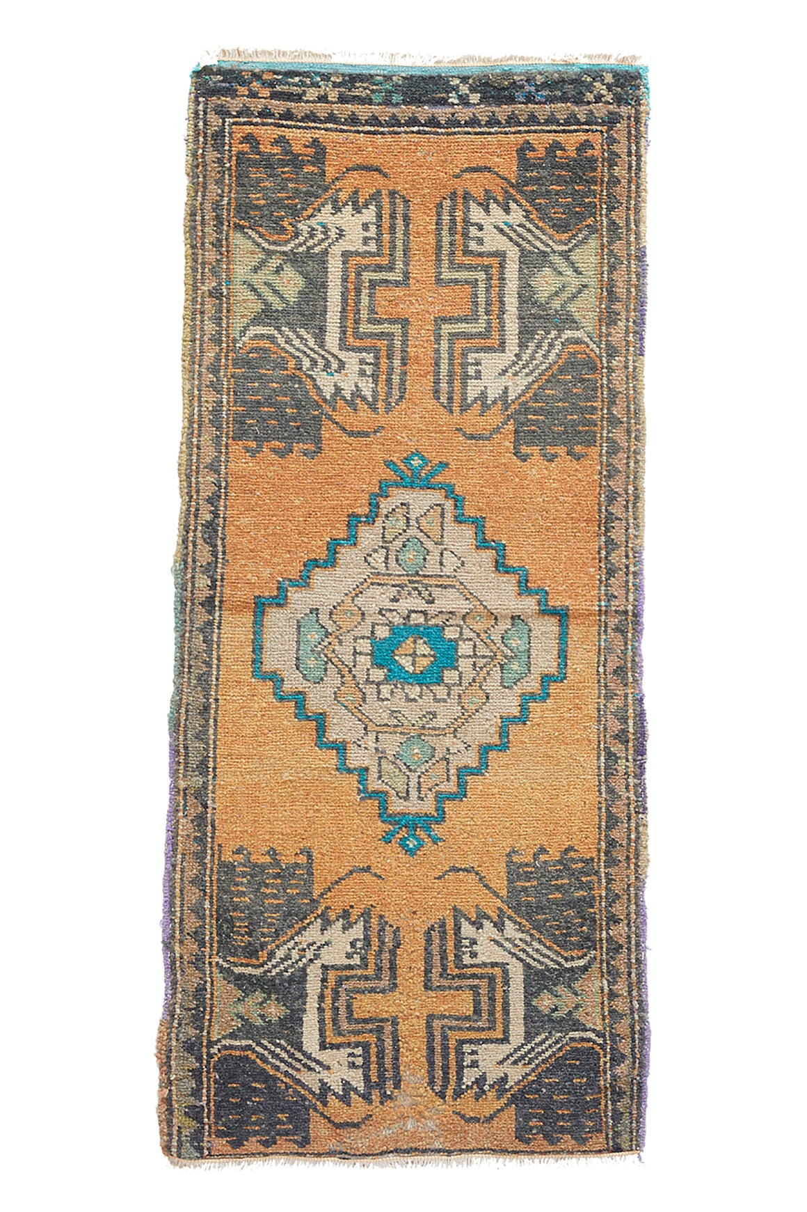 "No. 964 Mini Rug - 1'8"" x 4' - Canary Lane - Curated Textiles"