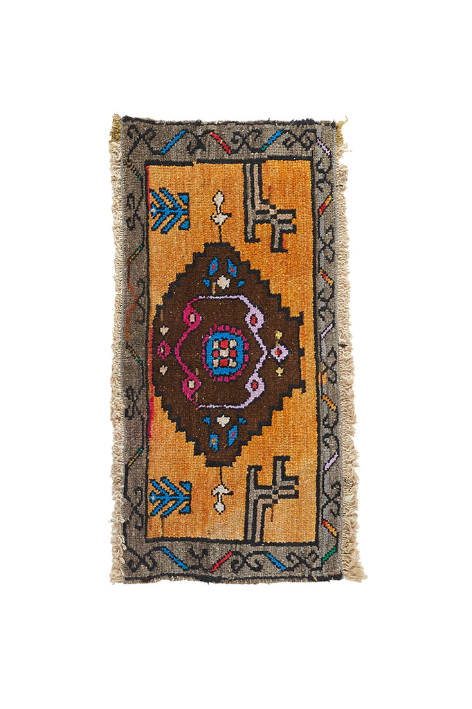 "No. 969 Mini Rug - 1'5"" x 2'9"" - Canary Lane - Curated Textiles"