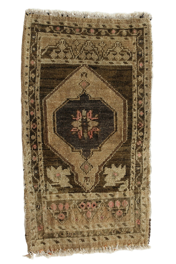 "No. 334 Petite Rug - 1'9.5"" x 3'2"" - Canary Lane - Curated Textiles"