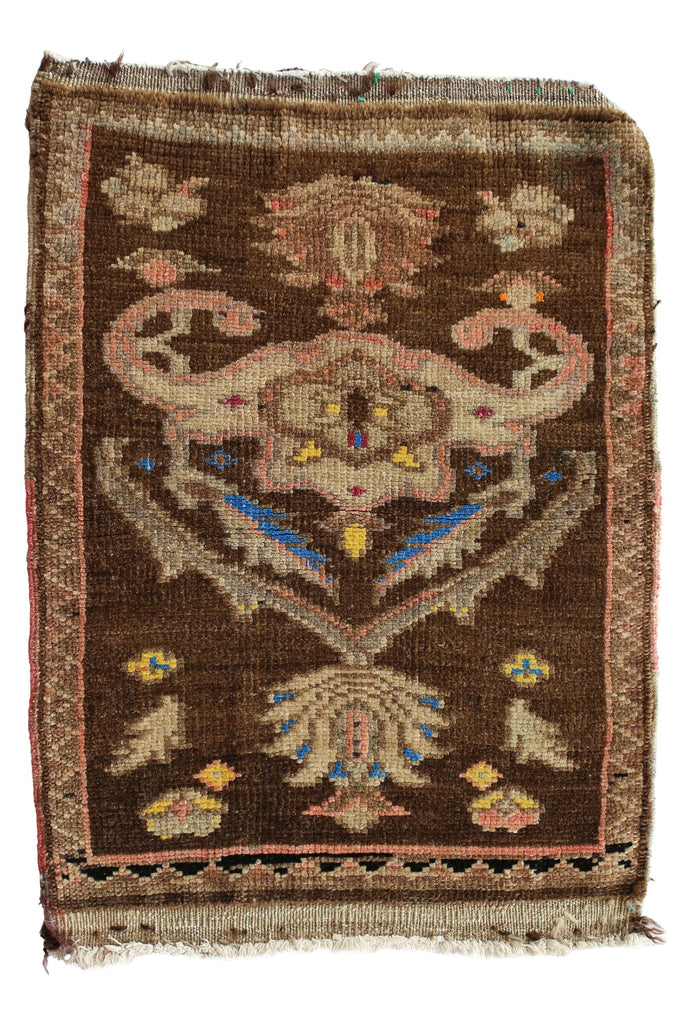 "No. 343 Mini Vintage Rug - 1'8"" x 2'4"" - Canary Lane - Curated Textiles"