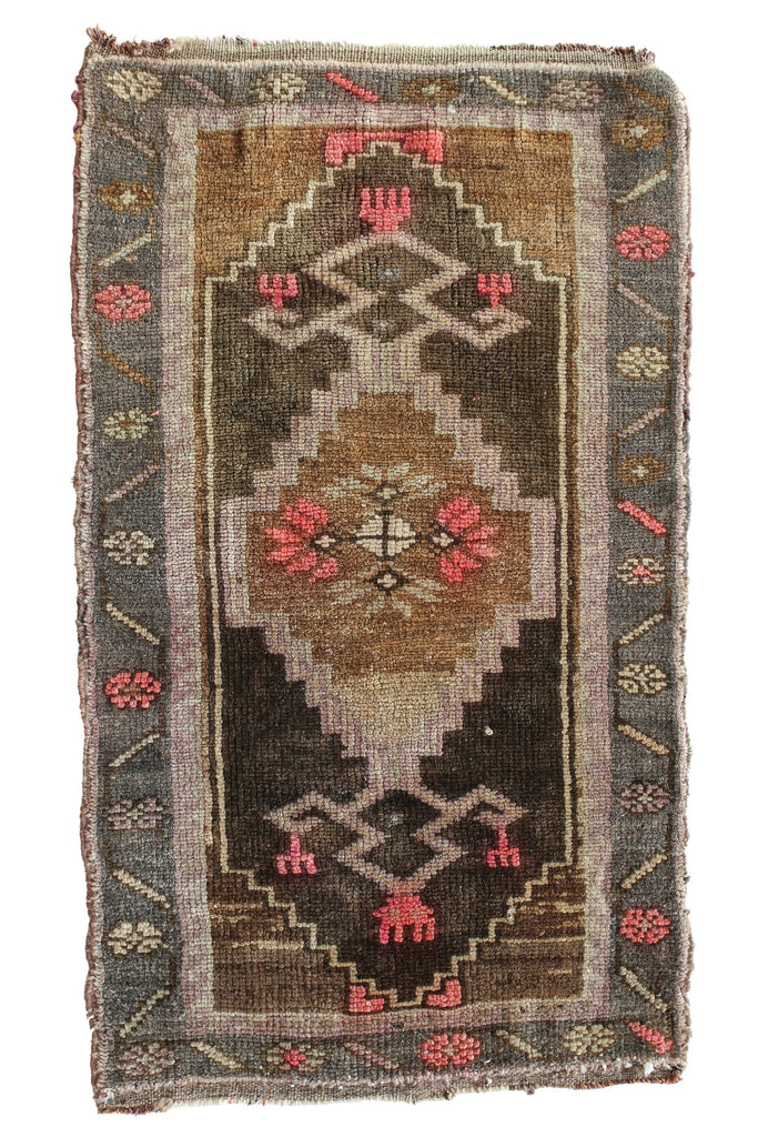 "No. 345 Petite Rug -1'9"" x 3'1"" - Canary Lane - Curated Textiles"