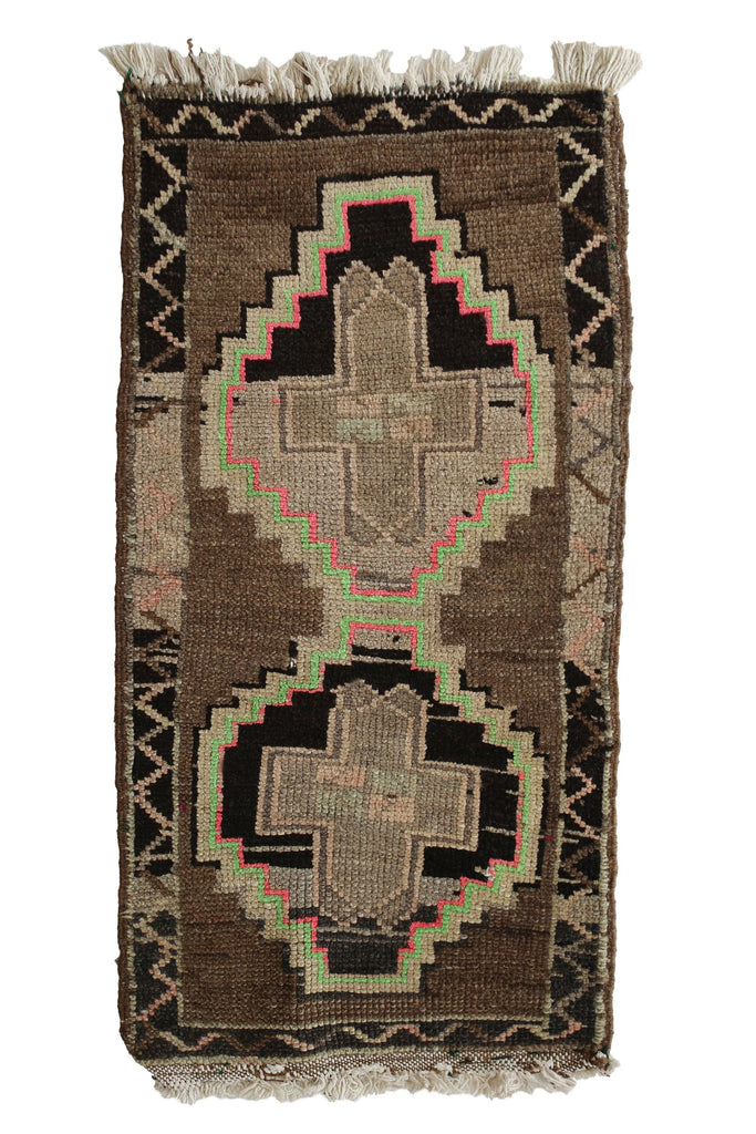"No. 355 Mini Rug - 1'7"" x 3'2"" - Canary Lane - Curated Textiles"