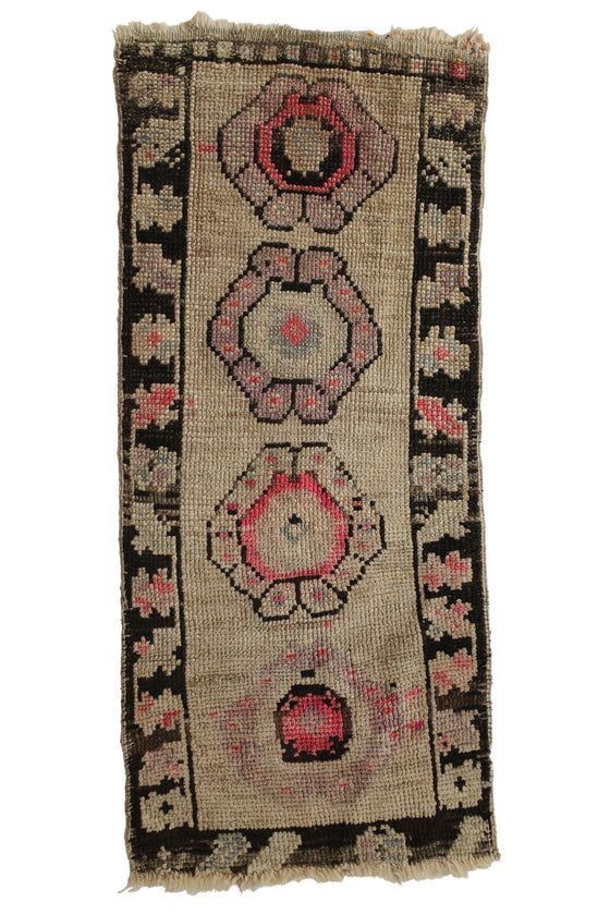 "No. 356 Petite Rug - 1'6"" x 3'6"" - Canary Lane - Curated Textiles"