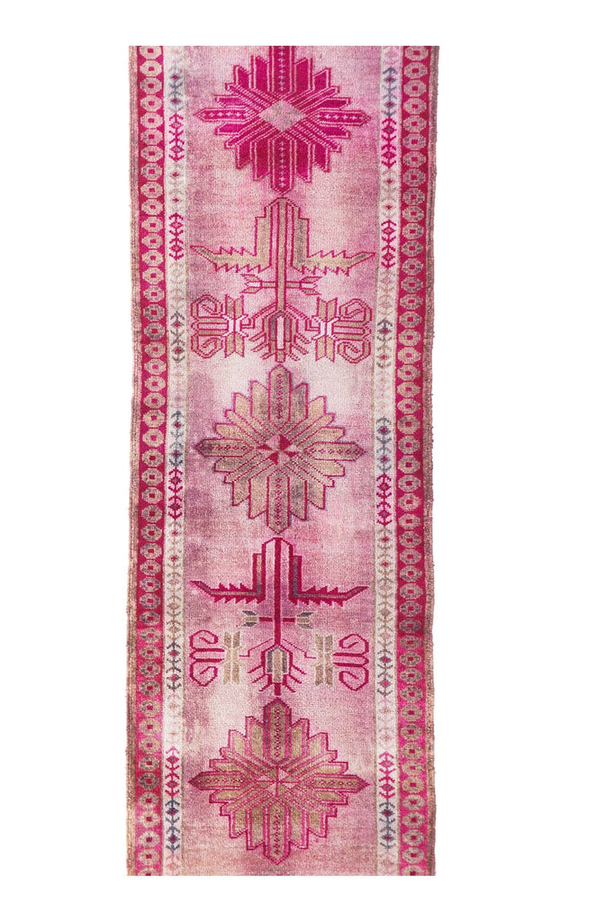 "'Unicorn' Vintage Turkish Runner - 3'1"" x 14'2"" - Canary Lane - Curated Textiles"