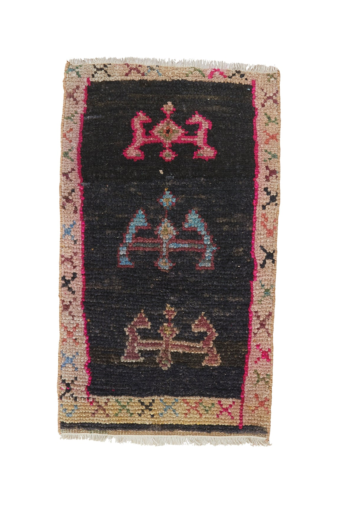 "No. 1014 Mini Rug - 1'4"" x 2'5"" - Canary Lane - Curated Textiles"