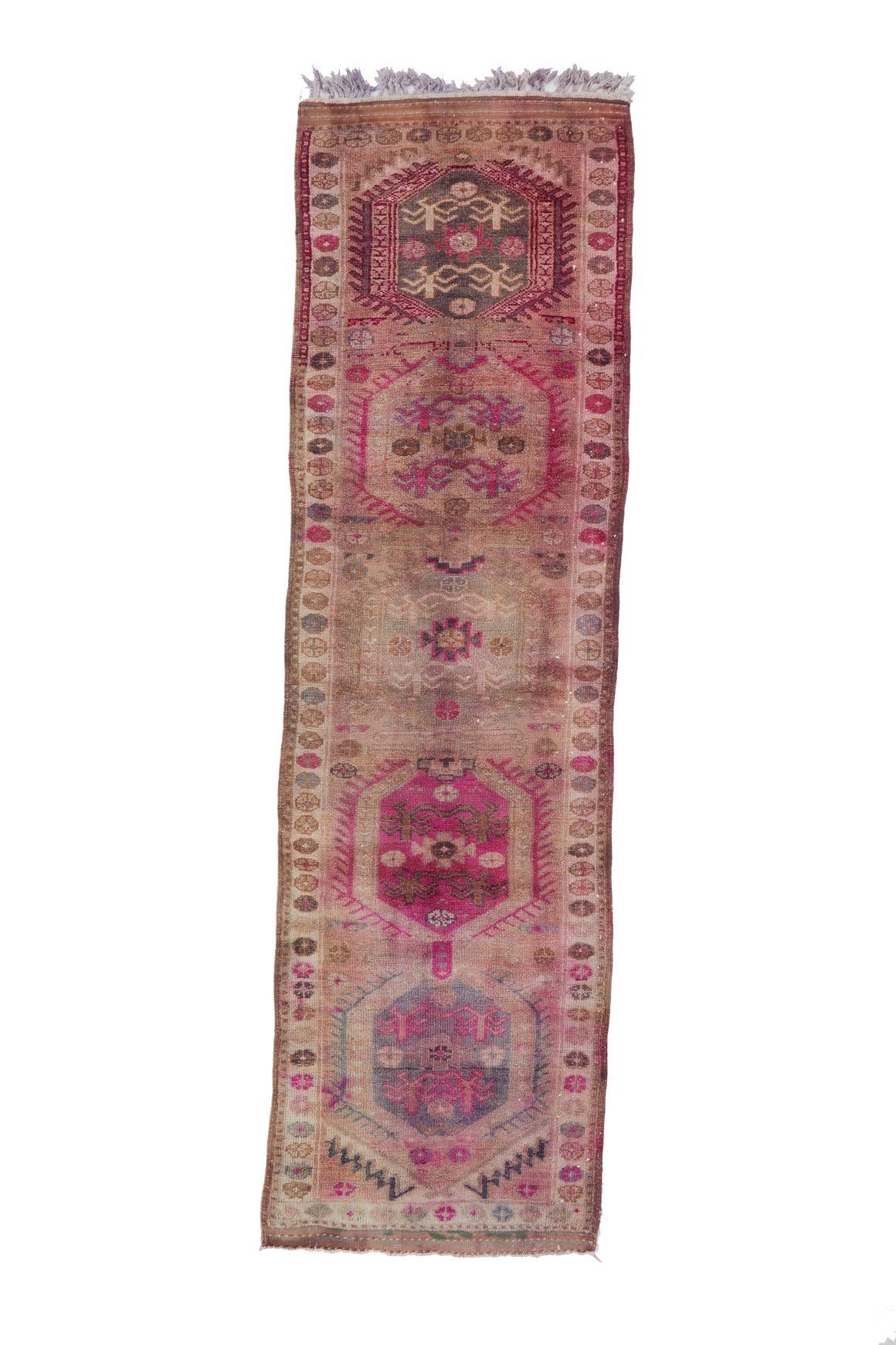 "'Hyacinth' Vintage Turkish Runner - 3'2"" x 11'3"" - Canary Lane - Curated Textiles"