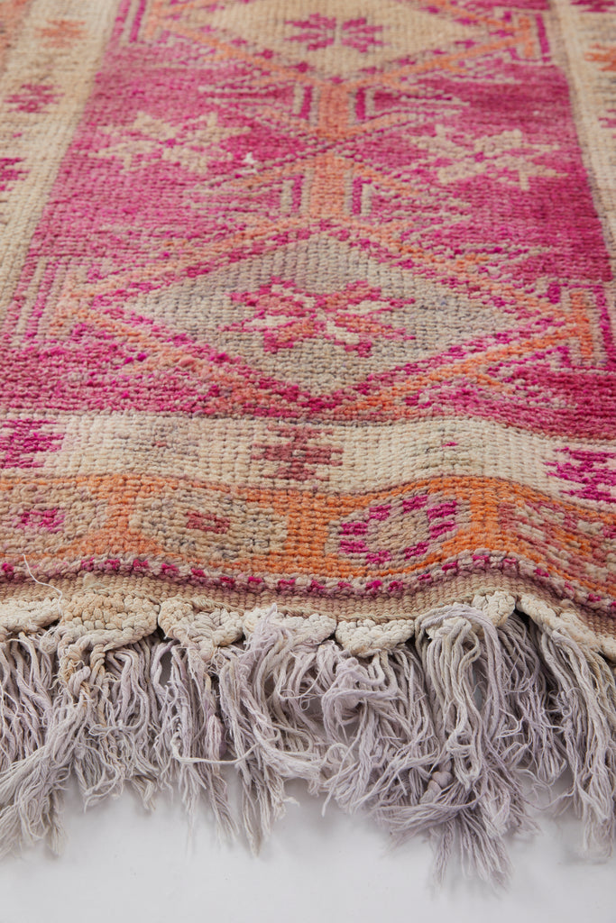 "'Snapdragon' Ombré Vintage Turkish Runner - 2'10'' x 17'8"" - Canary Lane - Curated Textiles"