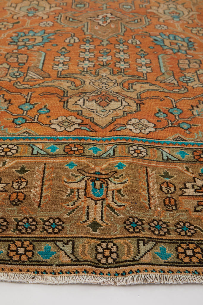 "'Foxtail' Turkish Vintage Area Rug - 9'2"" x 12'3"" - Canary Lane - Curated Textiles"